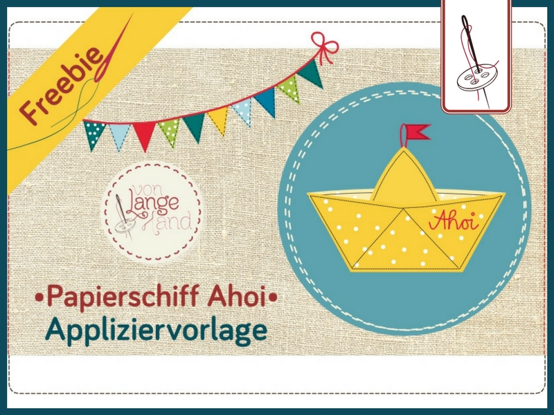 Papierschiff Applikationsvorlage zum Downloaden
