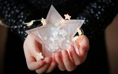 Sterne aus Pergaminpapier nähen – FREEBIE