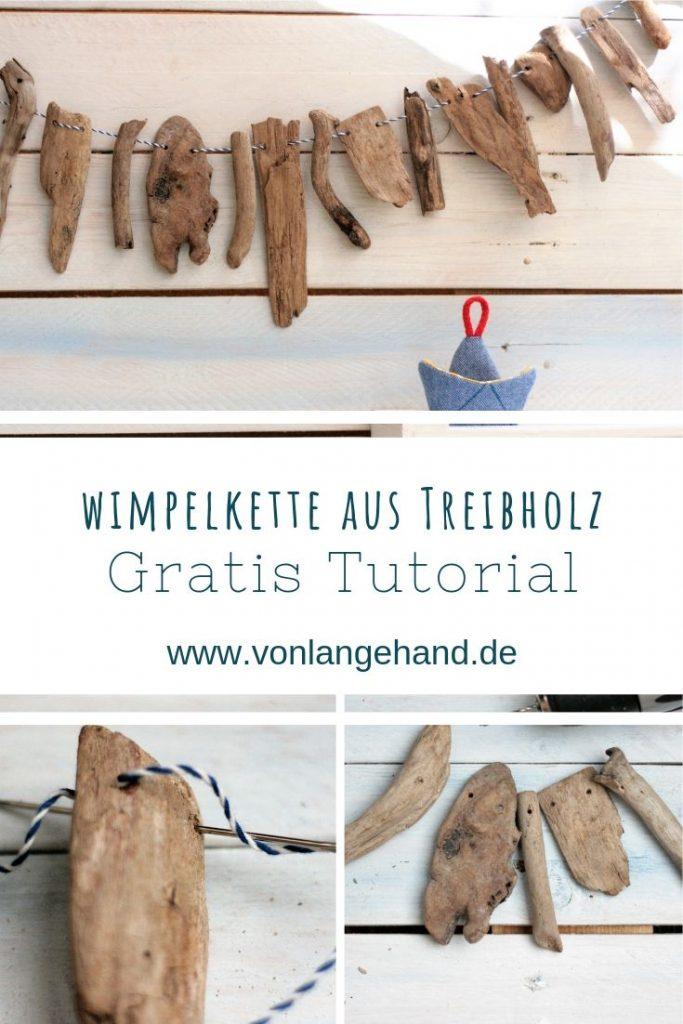 DIY Anleitung für eine Wimpelkette aus Treibholz