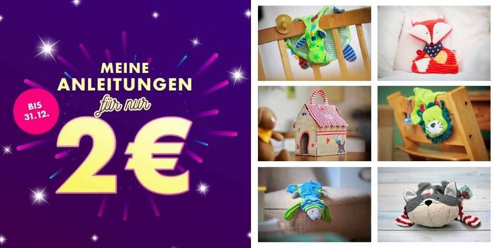 Makerist ruft zur 2-EUR-Aktion . Unzählige Näh-, Stick-, Strick-, Bastel- und Häkelanleitungen, Schnittmuster, Applikations- und Plottdateien für 2 Euro
