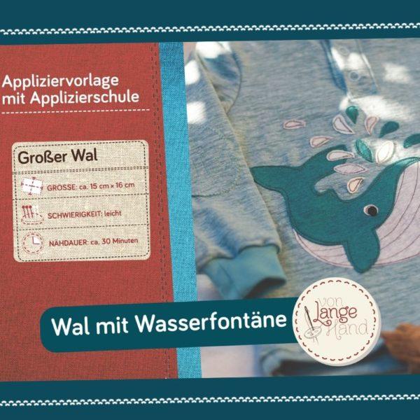 Titelseite Applikationsvorlage Wal mit Wasserfontäne