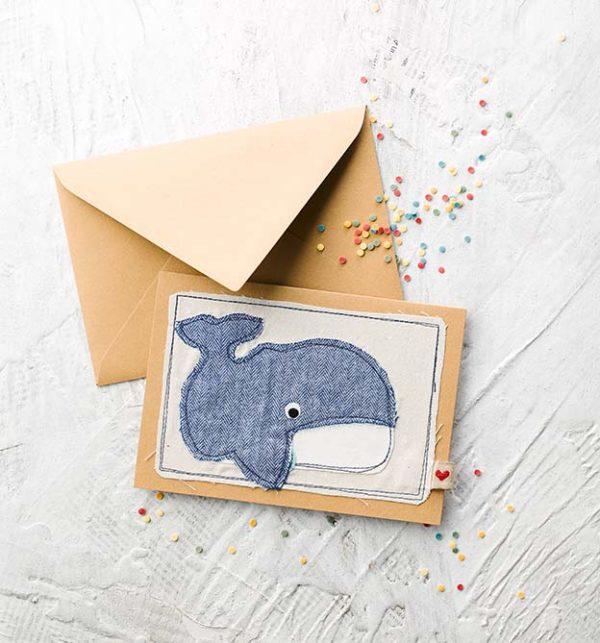 """DIY Karte mit Wal aus dem Buch """"Baby, Ahoi"""""""
