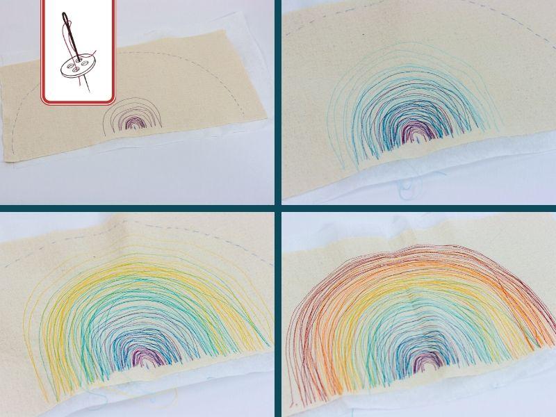 Regenbogen sticken – DIY Anleitung Schritt 01