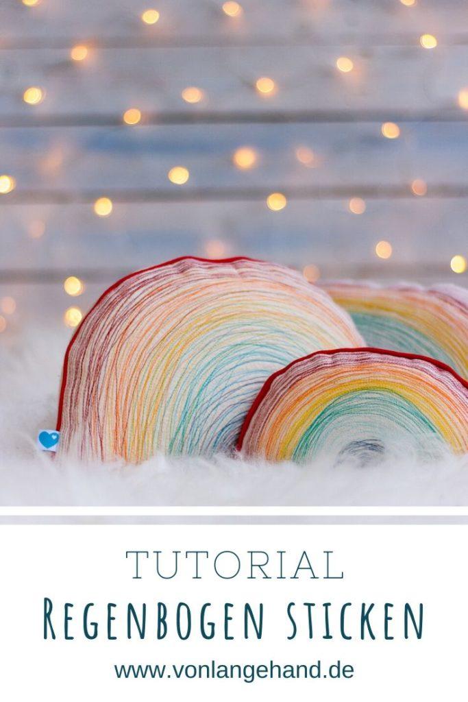 Pinterest Pin Regenbogen Kissen Tutorial