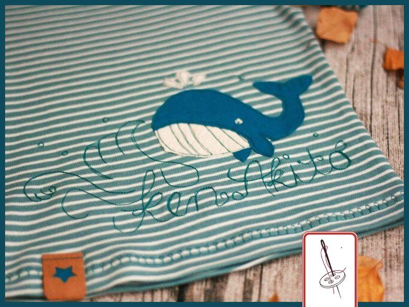 T-Shirt mit gesticktem Namen