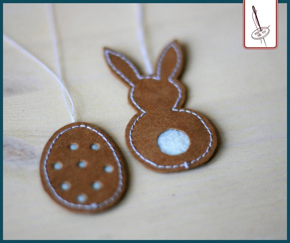 Osterdeko nähen – Eier und Hasen