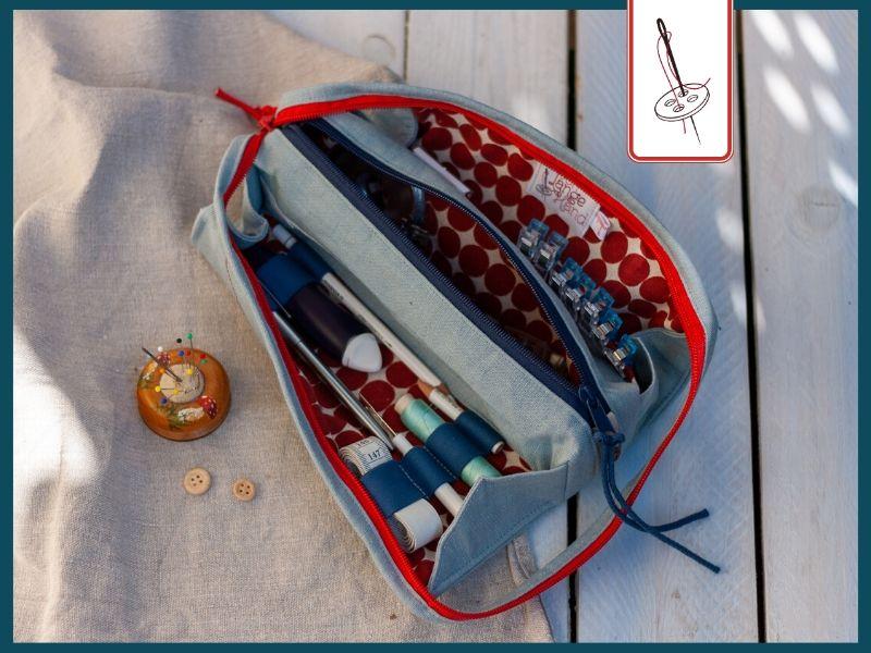 Applikationsvorlage Nähmaschine auf einer Tasche L. A. von Elle Puls