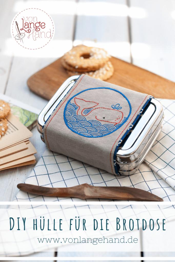 Hülle für die Brotdose nähen – Pin zum Merken