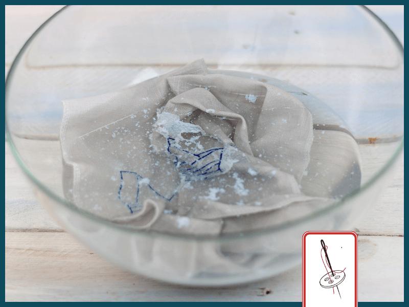 Stickvlies auswaschen
