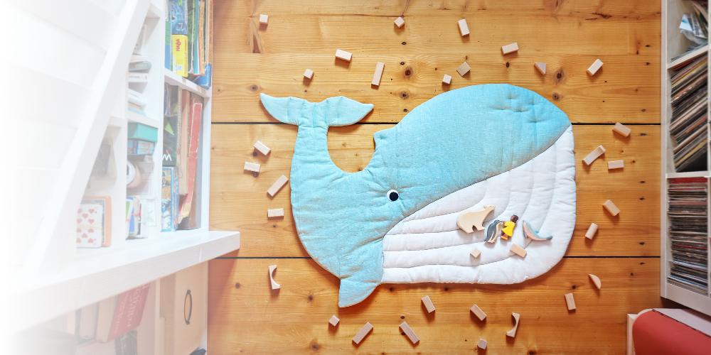 Wal nähen als Spielmatte – Nähanleitung