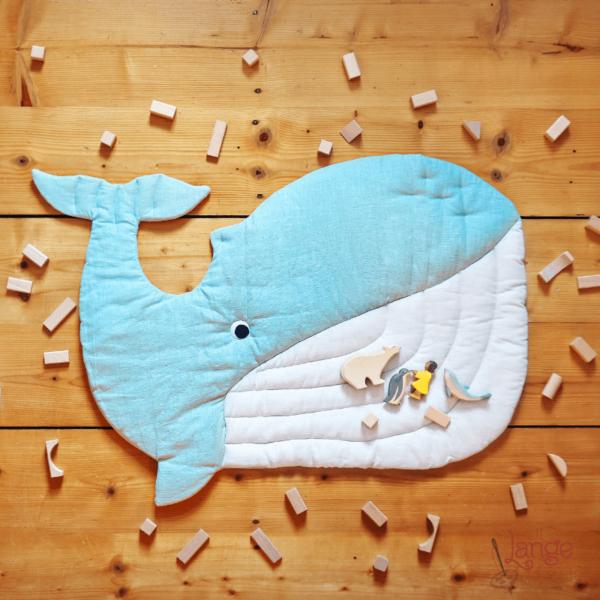 Wal Spielmatte Krabbeldecke Nähanleitung