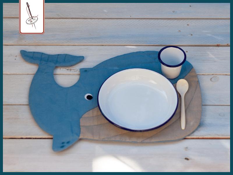 Schnittmuster Wal als Platz-Set für Kinder