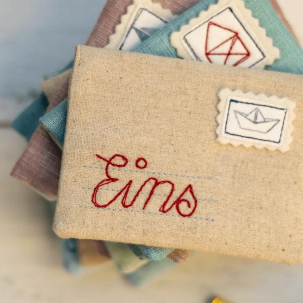 Briefumschlag naehen fuer die Wichtelpost