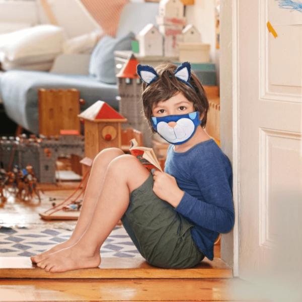 Kindermasken naehen Schnittmuster Katze