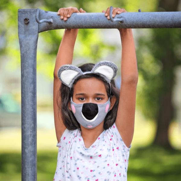Kindermasken naehen Schnittmuster Koala