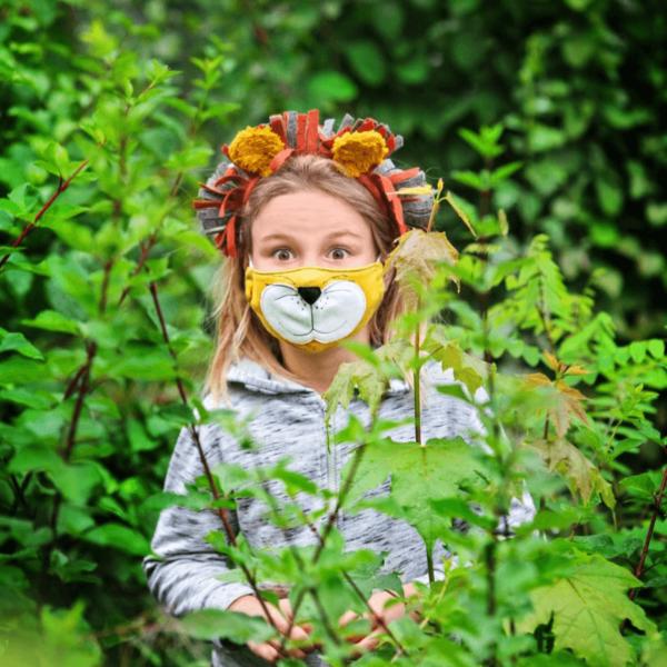 Kindermasken naehen Schnittmuster Löwe