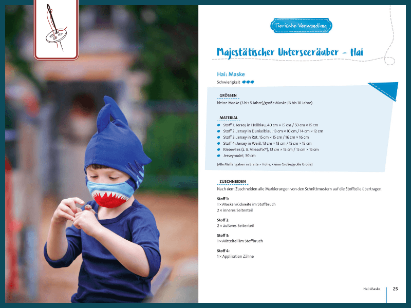 Kindermaske Hai tierische Verwandlung