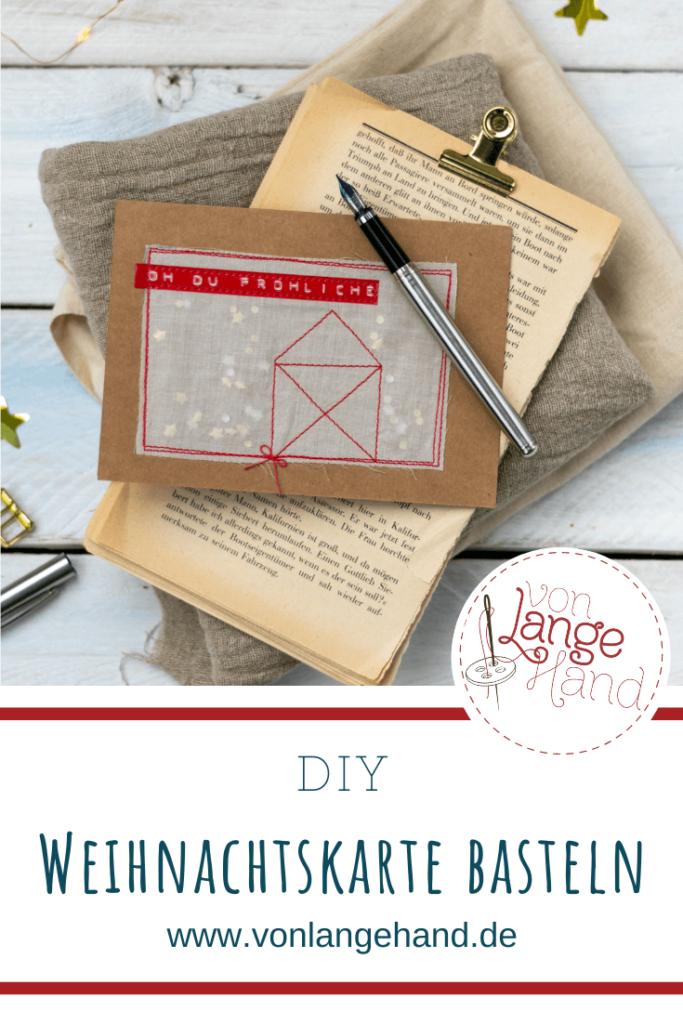 Pinterest Pin Weihnachtskarte basteln