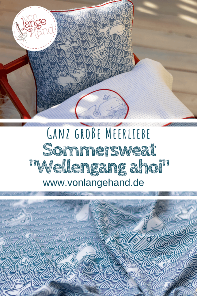 Pin fuer Pinterest: Stoffdesign Wellengang ahoi