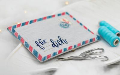 Briefumschlag nähen & bestempeln // DIY-Tutorial