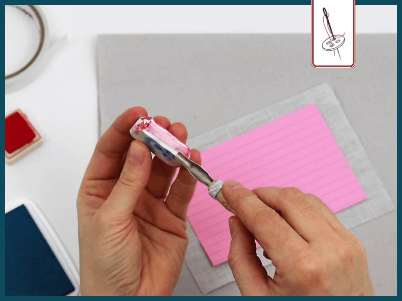 Brief naehen Stempel schneiden