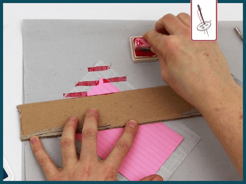 Brief naehen Luftpostmarkierung stempeln