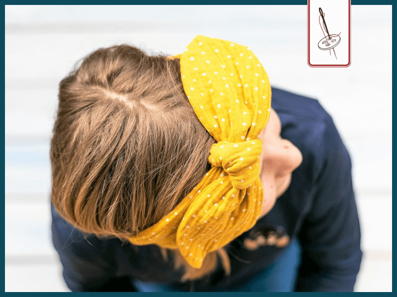 Haarband mit Schleife nach dem Schnittmuster von Vlieseline