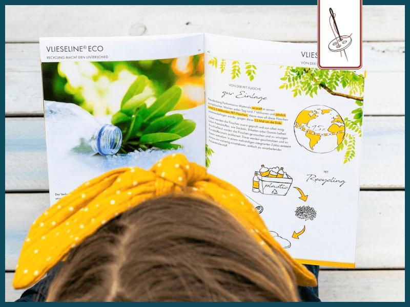 Vlieseline Flyer mit nachhaltigen Produkten