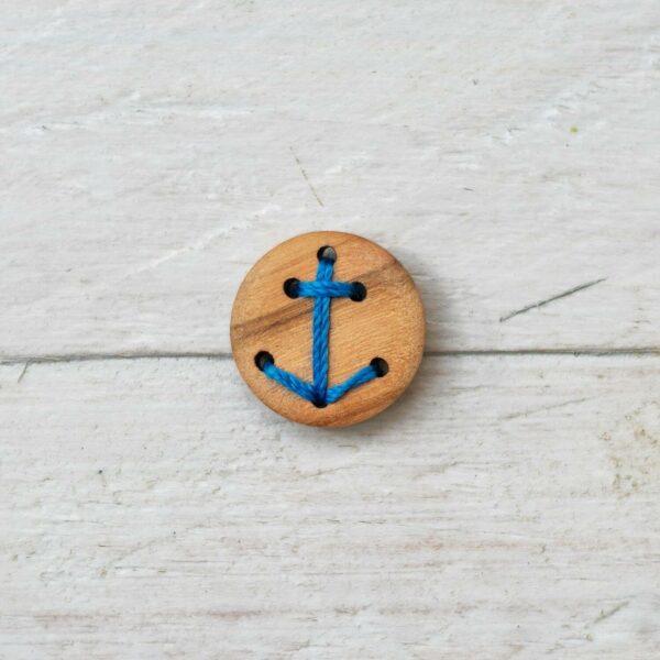 Anker-Knopf aus Echtholz Olivenholz