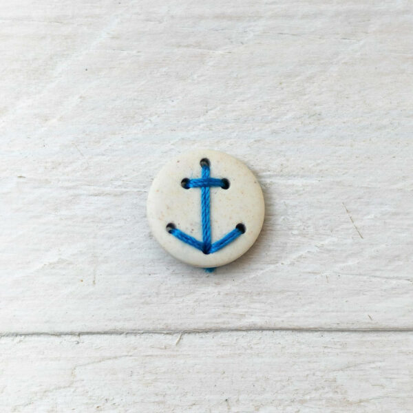 Anker-Knopf aus Kunstharz weiß