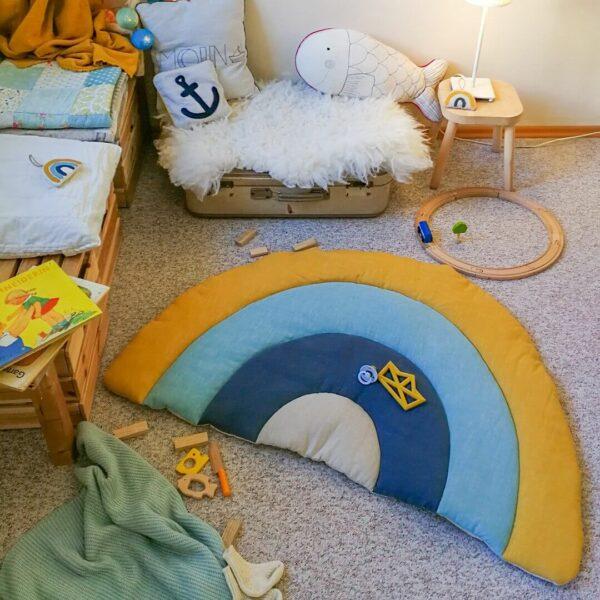 Spielmatte & Krabbeldecke Regenbogen