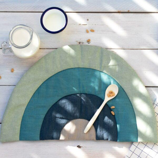 Platzset aus Leinen für Kinder nähen – Schnittmuster mit Anleitung