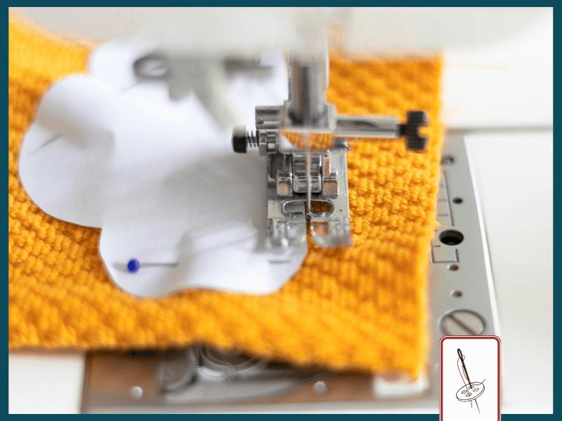 Abschminkpads mit der Nähmaschine zusammennähen