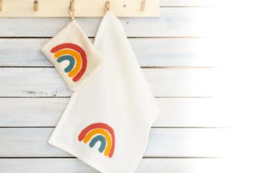 Regenbogen-Applikation mit zwei schönen Seiten nähen // Tutorial