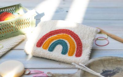 Waschlappen nähen: Ein Regenbogen-Set selber machen