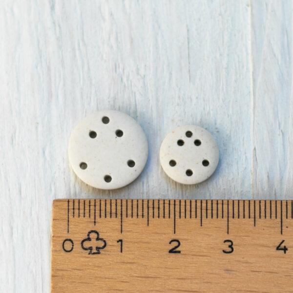 Anker Knopf weiss in 15 mm und 11,4 mm