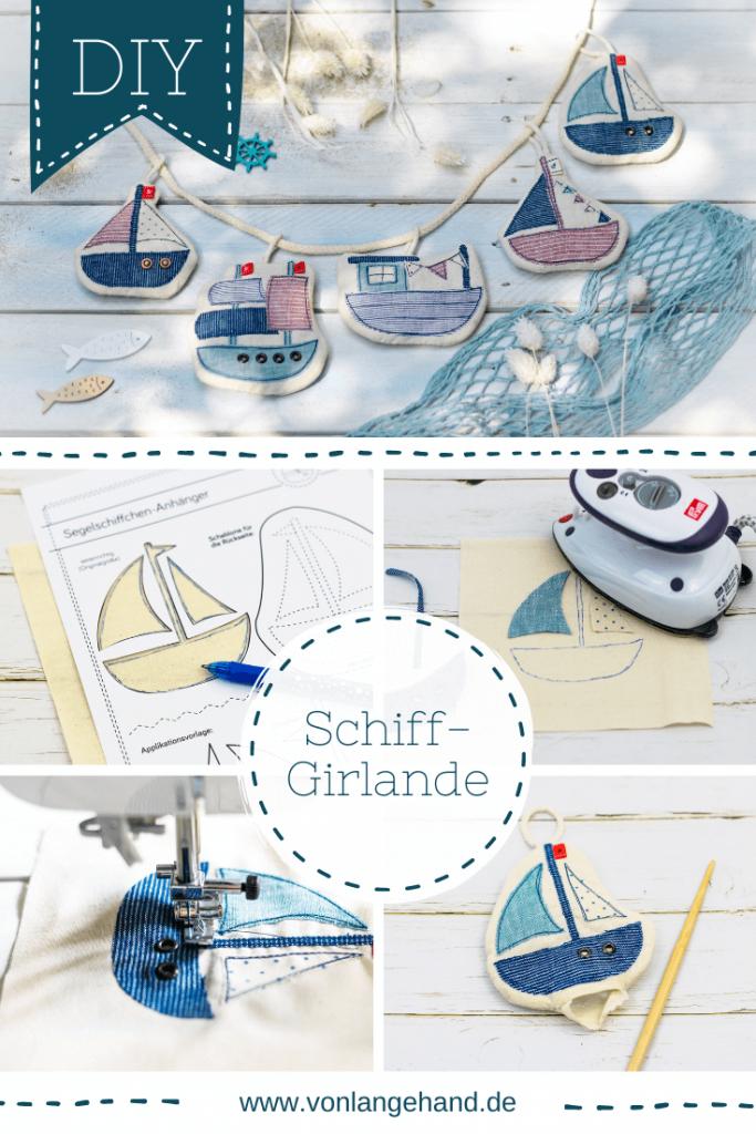 Schiffchen nähen Pinterest Collage