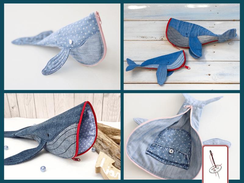 Wal-Federtaschen aus Jeans
